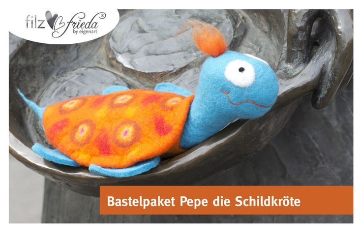 Bastelpaket ... Pepe die Schildkröte DIY von filzfrieda ... handgefilzte fröhlichmacher! auf DaWanda.com