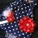 FREE Priority Ship - Fourth of JULY Baby girl outfit - ROMPER onesie dress with matching rosette headband rhinestone accent. $25.00, via Etsy.