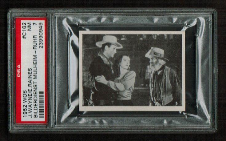 PSA 7 JOHN WAYNE with ELLA RAINES & GABBY HAYES 1952 WOS Film Star Card #C162
