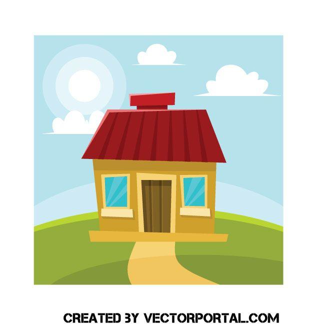 Small Cartoon House Vector Image Cartoon House House Vector