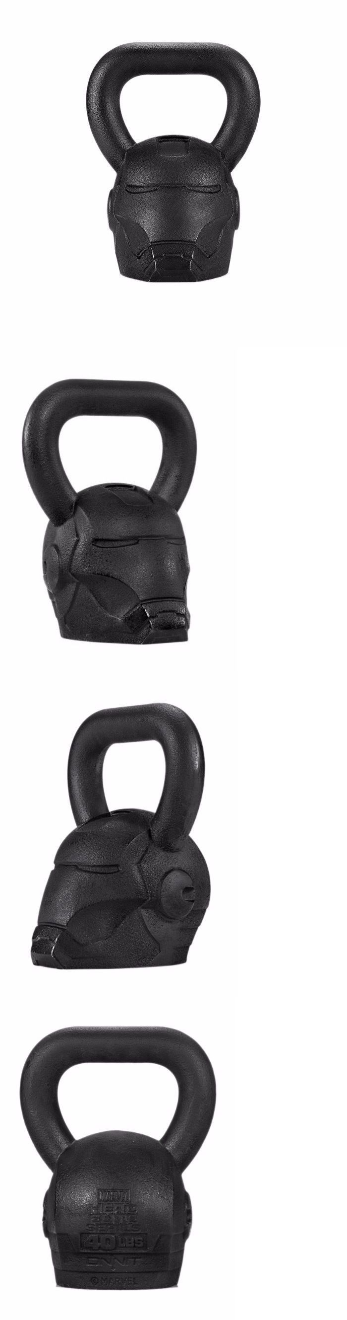 Kettlebells 179814: Workout Kettle Bell Marvel Super Hero Iron Man 40Lbs Solid Black -> BUY IT NOW ONLY: $189 on eBay!