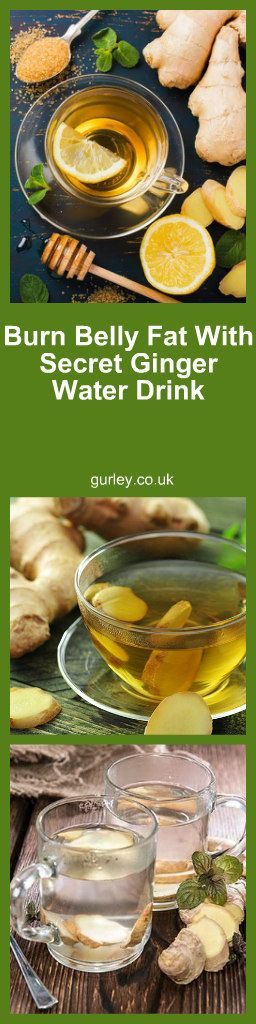 Burn Belly Fat With Secret Ginger Water Drink