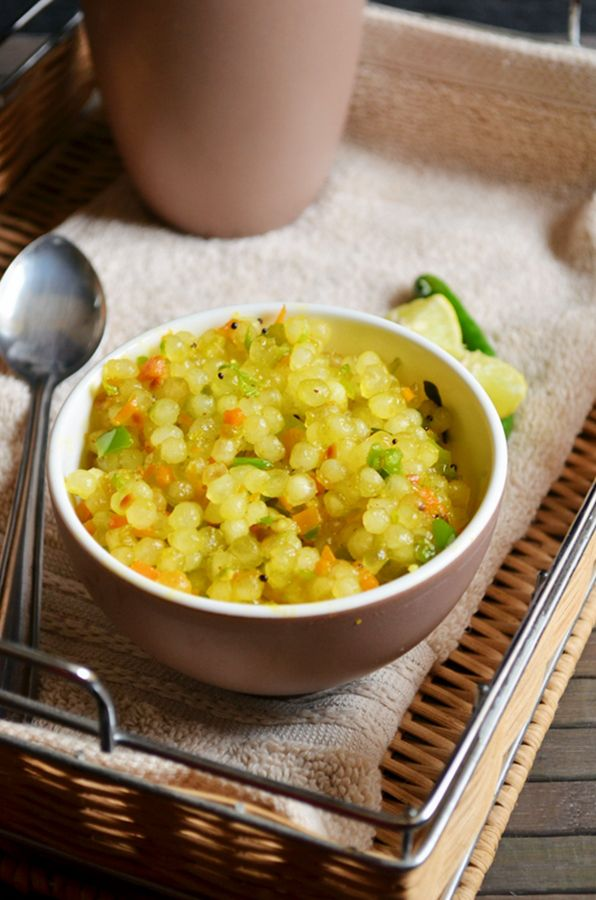 South Indian style sago upma/javvarisi upma with vegetables