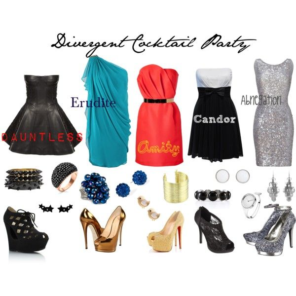 """Divergent Cocktail Party"" by callmeunwritten on Polyvore the only problem I have is that abnegation would not wear such sparkly clothes."