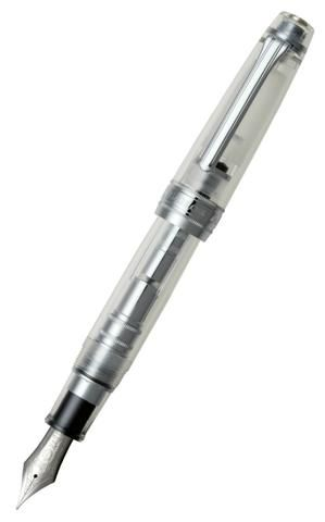 Sailor King of Pens ProGear Demonstrator Fountain Pen with Silver Trim & Rhodium Nib