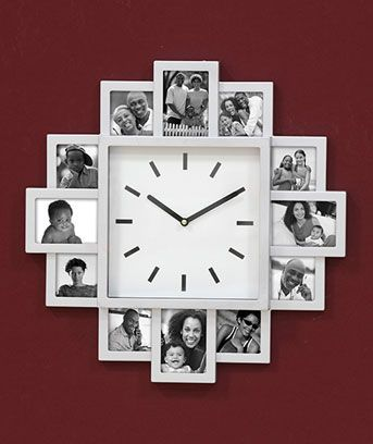 Wall Clock with Photo Frames