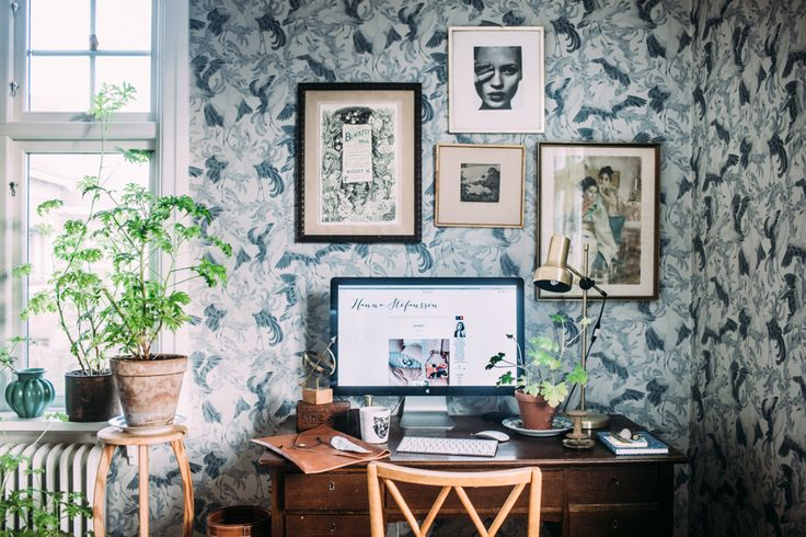 Home office of Krickeling blog at ELLE Decoration