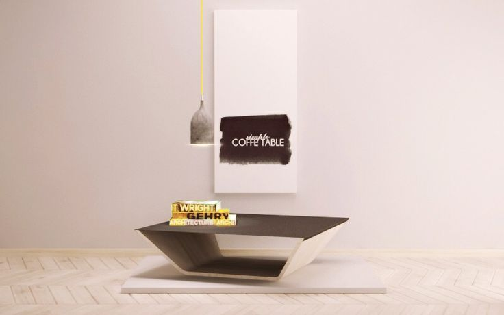 Stolik kawowy VECTOR z blatem wykonanym z blachy, wsuwanym na drewnianą podstawę. Blat dostępny w rożnych kolorach.
