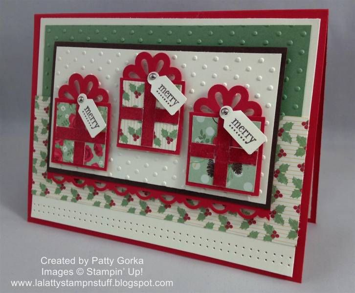 Punch Art Christmas PresentsChristmas Cards, Cards Ideas, Christmas Presents, Cards Christmas, Cards Throwdown, Punch Art, 52 Christmas, Paper Crafts, Stampin Up Christmas