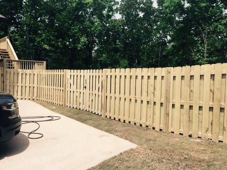 New fence installed.