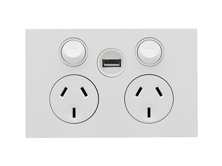Clipsal - Z4025USBC - Saturn Zen DGPO with Single USB Charger