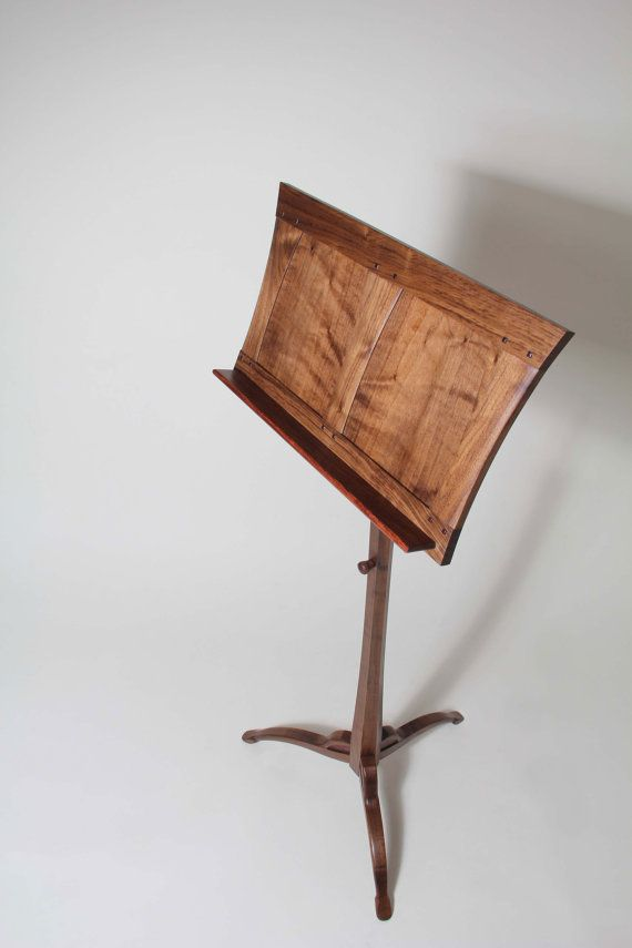Music Stand Adjustable height / Tilt Walnut & by JohnGrayFurniture, $1540.00