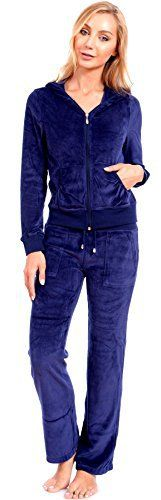 Women's Plus Size Athletic Velour Zip Up Hoodie and Sweat Pants Set Order 2 Sizes Up Navy Blue 2X - http://www.exercisejoy.com/womens-plus-size-athletic-velour-zip-up-hoodie-and-sweat-pants-set-order-2-sizes-up-navy-blue-2x/athletic-clothing/