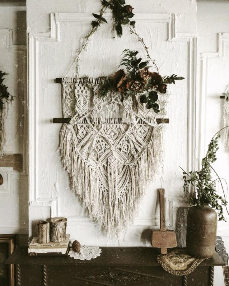 Homemade Wall Hanging Decor : Ideas about macrame wall hanging diy on