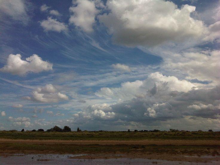 Big blue sky at Brancaster
