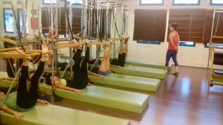 Get a great stretch at the Tower! #pilatesjakarta