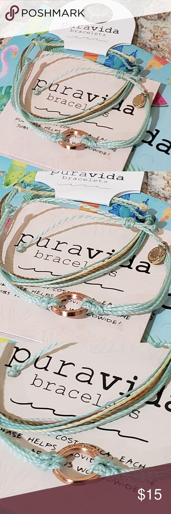 """Baja Blast"" Pura Vida rose gold circle Charm 2 Pura Vida Bracelets  Baja Blast""… – My Posh Closet"