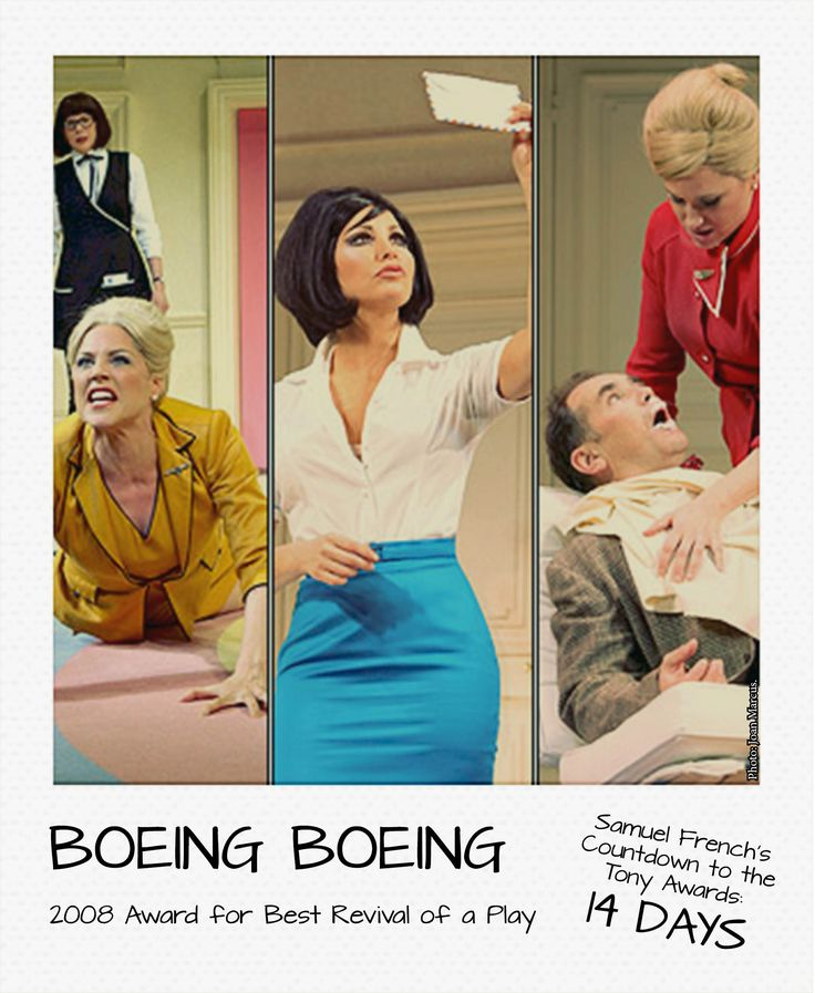 Can you believe we are over halfway through our countdown to the Tony Awards! We don't know about you, but we're getting pretty stoked.  Today's feature is BOEING BOEING by Marc Camoletti, translated by Beverley Cross and Francis Evans. Who else loves this farce? #tonyawards #samuelfrench