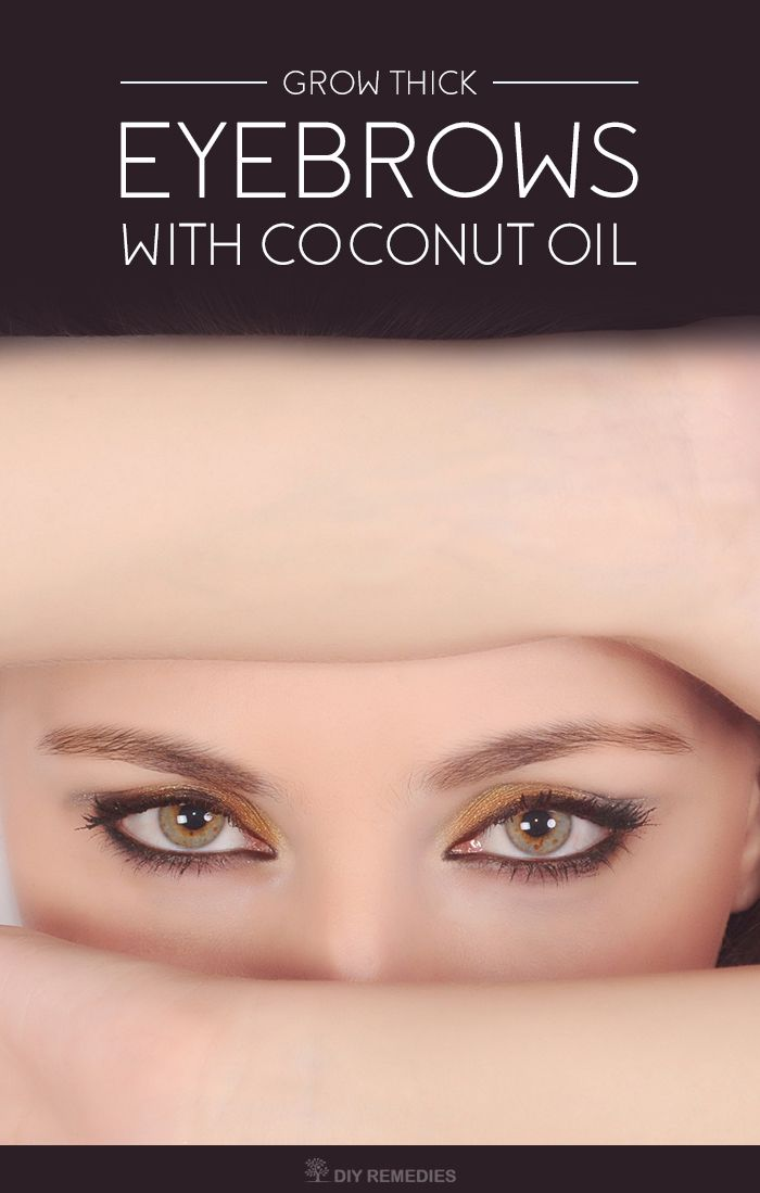 Coconut oil works in two ways for promoting healthy eyebrows growth like preventing more eyebrow loss and aiding the growth of more hair in eyebrows.