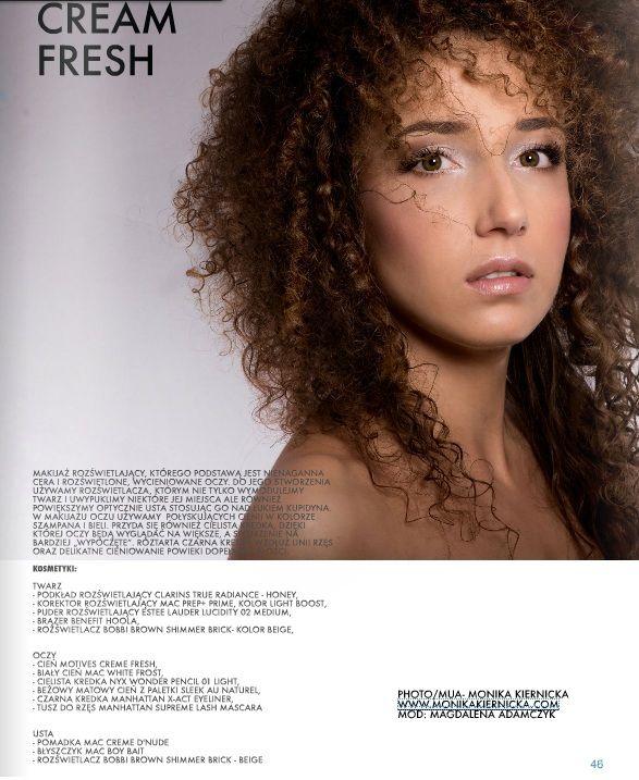 creme fresh editorial- e-makijaz magazine 1/2015