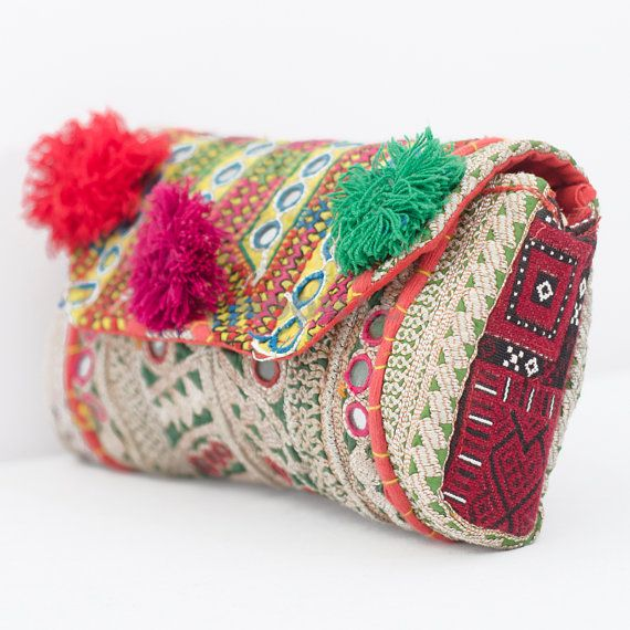 Banjara Clutch Bag, Trendy Clutch, Vintage Clutch Bag, Sling Purse, Boho Clutch, Bohemian Clutch