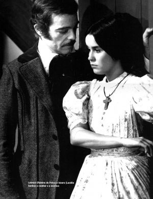 """Rubens de Falco e Lucélia Santos, """"A Escrava Isaura"""", (1976)"""