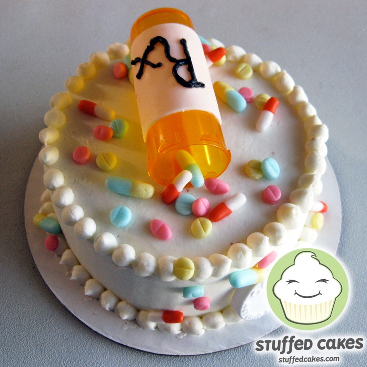Pill Cake. Haha!!! This would be kind of funny to bring up someones spirits at the hospital or something. :)