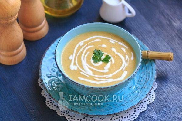 Суп-пюре из кабачков с плавленным сыром