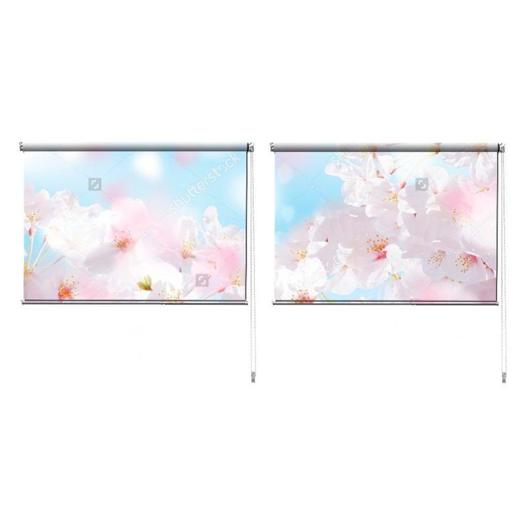 Duo rolgordijn Kersenbloesem | De duo rolgordijnen van YouPri zijn iets heel bijzonders! Maak keuze uit een verduisterend of een lichtdoorlatend rolgordijn. Inclusief ophangmechanisme voor wand of plafond! #rolgordijn #gordijn #lichtdoorlatend #verduisterend #goedkoop #voordelig #polyester #duo #twee #kersenbloesem #lente #roze #blauw #bloemen #bloem #boom