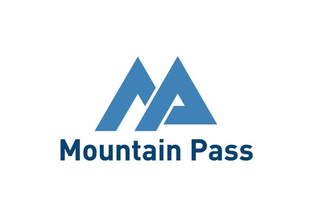 We created this #logo using the company's initials to form #mountain peaks. Mountain Pass is a creator of higher education faculty management and HR #software. #graphic #design #branding #portfolio Logo by www.clarityqst.com