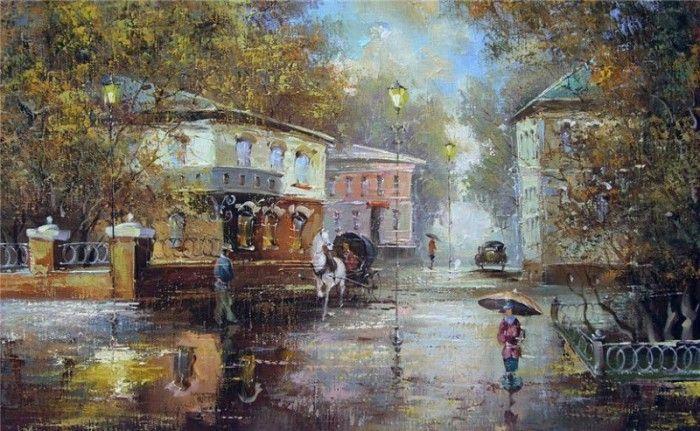 картины с дождем - 16