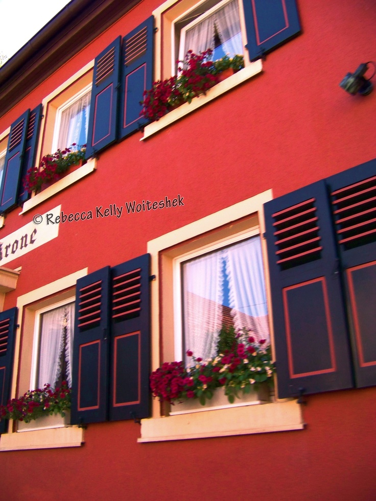 Love the colors and windows on so many of the homes in Baden-Württemberg.