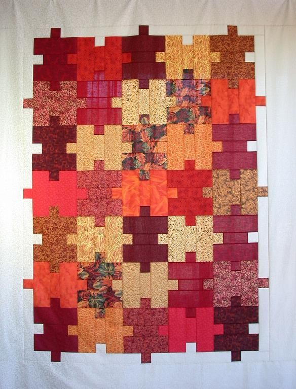 Looking for quilting project inspiration? Check out Quilter's Puzzle Quilt Top by member AllThatPatchwor.