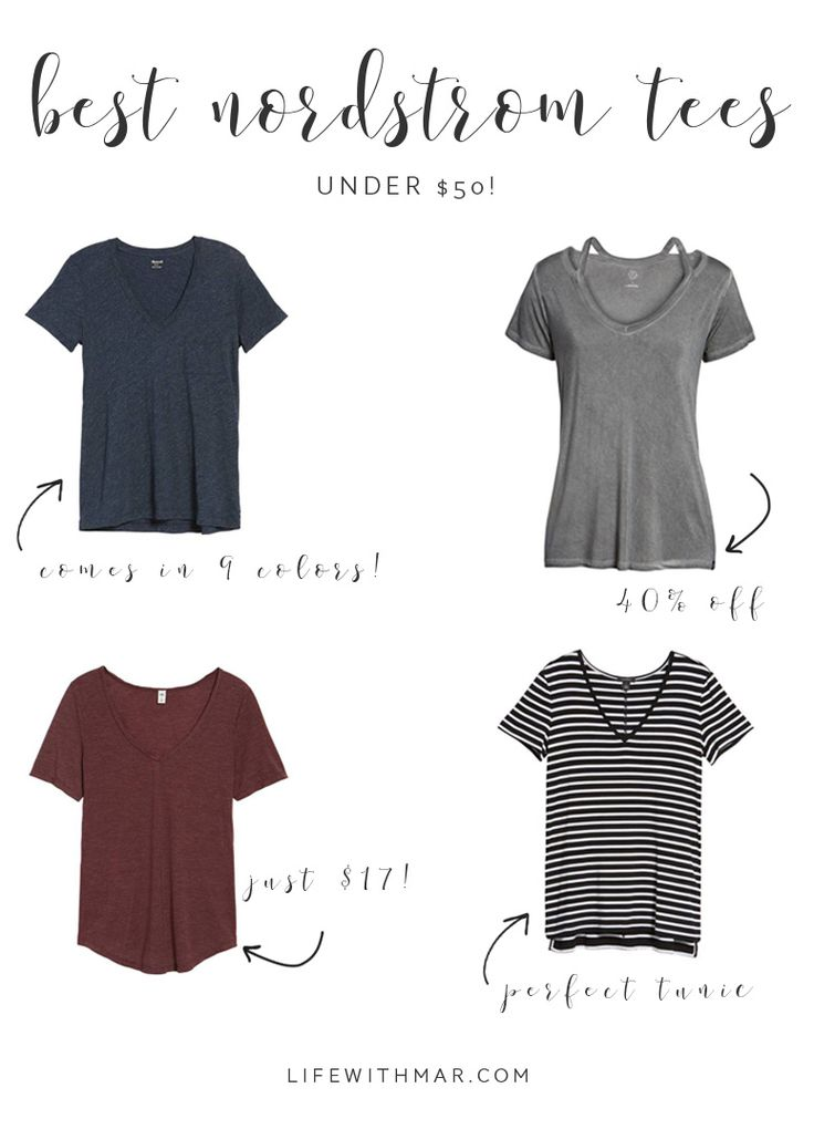 Best t-shirts under $50 from Nordstrom!! Perfect for everyday outfits and casual outfits