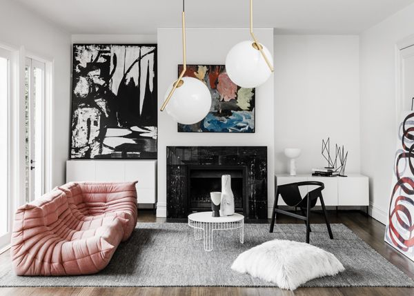 Cultissime canapé Togo Ligne Roset | Meme design - East Hawthorn residence ~ Great pin! For Oahu architectural design visit http://ownerbuiltdesign.co