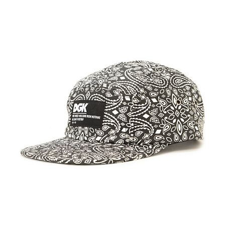 The DGK OG Black 5 panel hat has a comfortable lightweight low-profile fit with iconic street style. Update your hat game with the OG white DGK paisley print on a black colorway with metal eyelets at the sides for breathability with an adjustable black pl