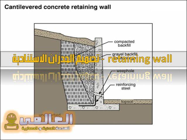 تصميم الجدران الاستنادية Pdf Retaining Wall Concrete Retaining Walls Retaining Wall Wall