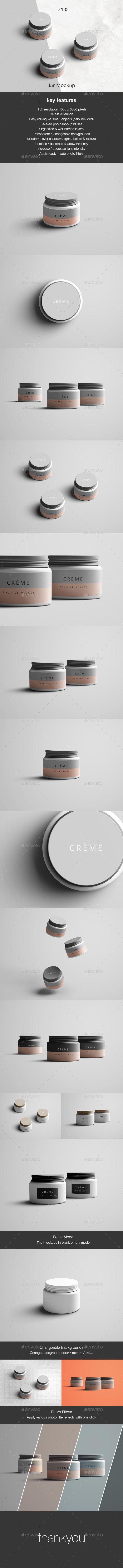 Jar Mockup Design Template - Beauty Packaging Mock Up Design Template PSD. Download here: https://graphicriver.net/item/jar-mockup/17042932?s_rank=227&ref=yinkira
