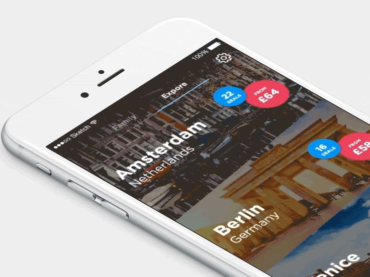 Travel app city list by Nazar Moravskyi