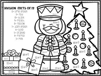 Christmas Division Color By Number 2 12 Christmas Division Christmas Cards Drawing Division