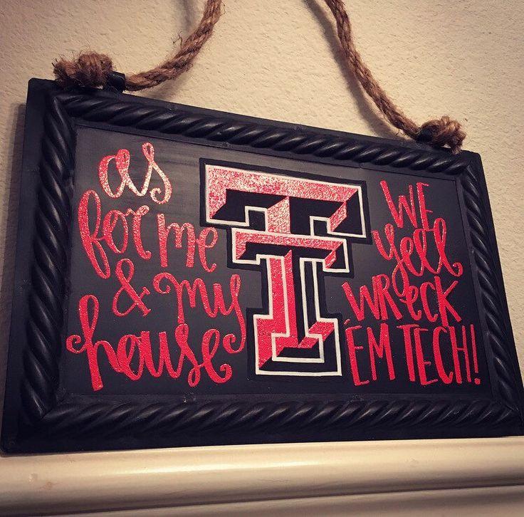 Texas Tech University Embossed Hanging Chalkboard sign❣ #WreckEmTech