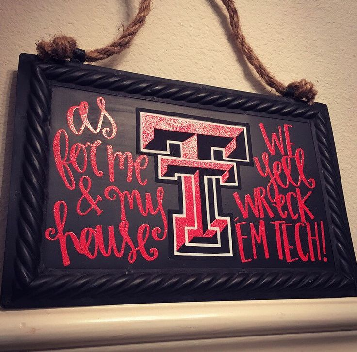 Texas Tech University Embossed Hanging Chalkboard sign❣ #WreckEmTech