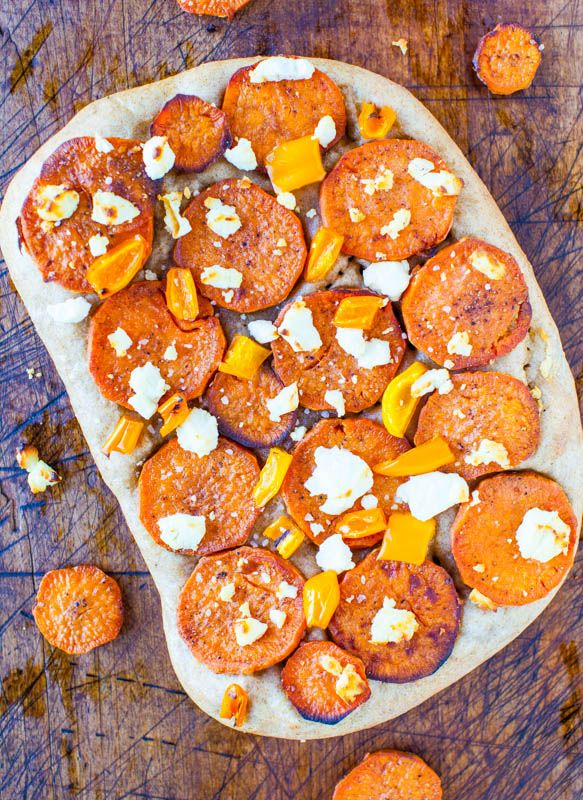 Roasted Sweet Potato & Goat Cheese Pizza with 1-Hour Homemade Wheat ...