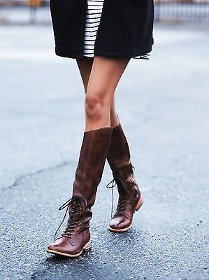 these brown leather boots are amazing