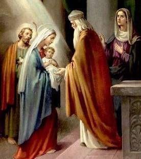 De liturgie is vooral gericht op een detail van Luke's uitbeelding: de ontmoeting tussen het Kind Jezus en de bejaarde Simeon. Zo is in de Grieks-sprekende wereld het feest werd genoemd Hypapanti (de ontmoeting). In deze juxtapositie van het kind en de oude man, de Kerk ziet de ontmoeting tussen de passerende heidense wereld en het nieuwe begin in Christus, tussen de vervagende leeftijd van het Oude Verbond en het nieuwe tijdperk van de kerk van alle naties.Lichtmis 2 februari.