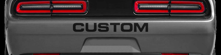 Dodge Challenger 2015 Rear Bumper Text
