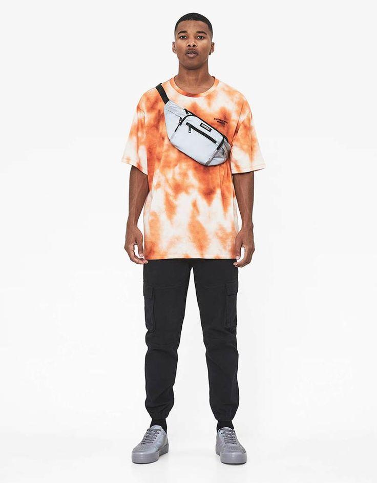 Tie dye T-shirt - T-Shirts - Bershka Poland Tie Dye Shirts, Dye T Shirt, Tie Dye Outfits, Swag Outfits, Moda Blog, How To Tie Dye, Next Clothes, Best Mens Fashion, Streetwear