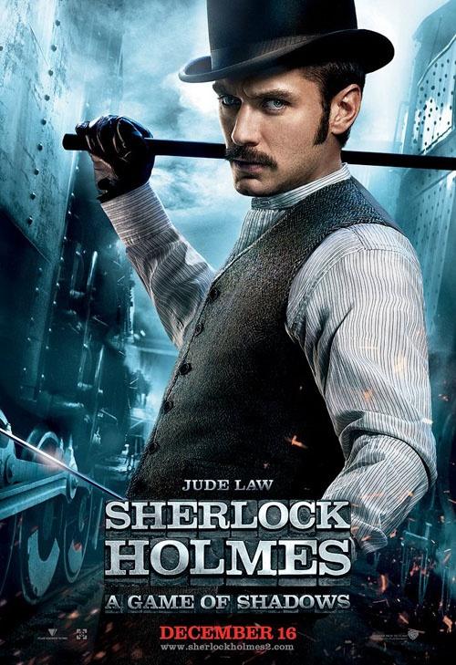 Jude Law as Dr. Watson inn Sherlock Holmes, a game of shadows