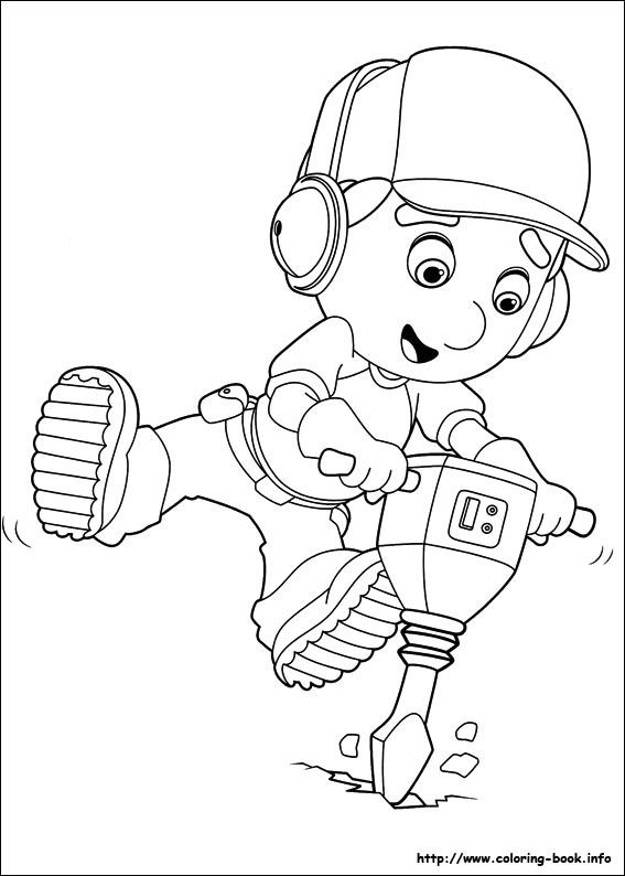 handy manny - Handy Manny Hammer Coloring Pages