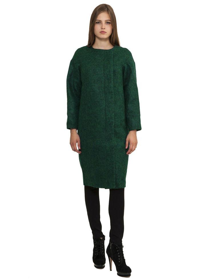 Пальто DOCTOR E. Цвет темно-зеленый.
